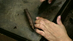 Cigar Touch-up Stock Footage