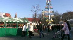 Germany Munich Viktualienmarkt open-air market Stock Footage