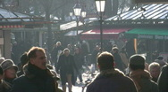 Stock Video Footage of Germany Munich Viktualienmarkt open-air market