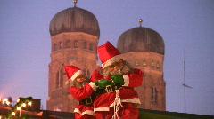 Germany Munich Marienplatz Christmas fair Stock Footage