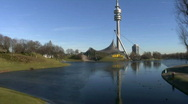 Stock Video Footage of Germany Munich Olympia center TV tower