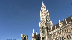 Germany Munich New Town Hall Stock Footage