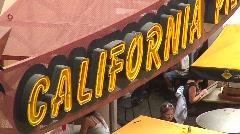 jm633-California Sign Panout - stock footage