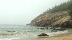 Sand Beach Foggy Stock Footage