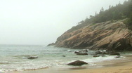 Stock Video Footage of Sand Beach Foggy