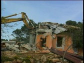 Stock Video Footage of House Demolition