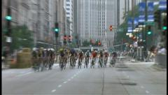 2008 Chicago Criterium Bike Race 007 Stock Footage