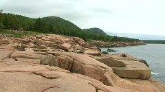 Stock Video Footage of Acadia Cliffs