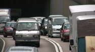 Stock Video Footage of China Hong Kong financial district Downtown traffic gridlock