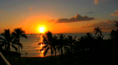 Sunset in the Pacific Stock Footage