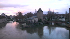 Romantic Alsace Strasbourg Les Ponts Couverts France  Stock Footage