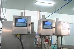 Industrial Hod dog Packaging  machines Stock Footage