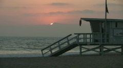 Malibu Sunset on the Beach Stock Footage