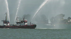 Fireboat Stock Footage