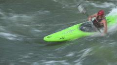 White water kayaking Stock Footage