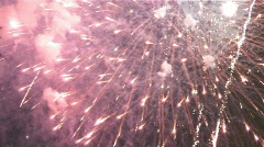 Explosive fireworks grand finale with sound Stock Footage