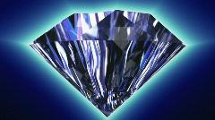3D Animated Diamonds Stock Footage