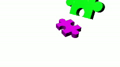 Jigsaw puzzle Stock Footage