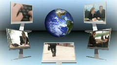 Worldwide communication Stock Footage
