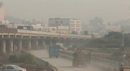 Polluted Highway in China Stock Footage