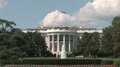 Head on shot of the White House Stock Footage