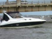 Zoom Out of St. Augustine Boat and Bridge Stock Footage