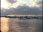 Stock Video Footage of St. Augustine Marina at Sunset