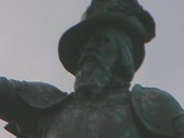 Stock Video Footage of Zoom In and Out of St. Augustine Statue