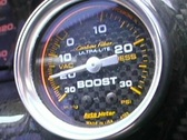 Stock Video Footage of Boost Turbo Gauge Instrument