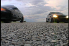 Starting Line of a Drag Race on a Country Road Illegal Race Car Custom Sport - stock footage