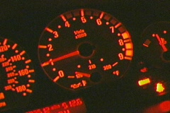 Lighted Dashboard with RPM'S Sports Car Custom Race - stock footage