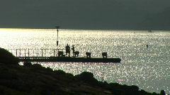 lake travis silhouette - stock footage