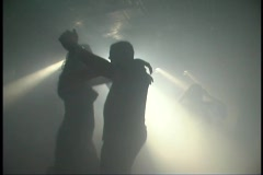 Sexy People Dancing Silhouetted In A Club Rave Disco Dance Hall - stock footage