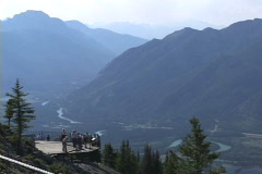 Banff Sulphur Mt Lookout Bow Valley Stock Footage