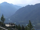 Stock Video Footage of Banff Sulphur Mt Lookout Bow Valley