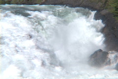 Bow River Falls CU Stock Footage