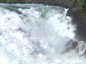 Stock Video Footage of Bow River Falls CU