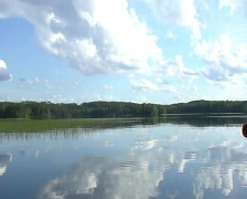 lake landscape - stock footage