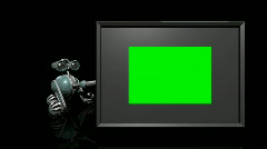 Robot with green screen. Loopable. HD 1080. Stock Footage