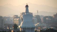 White Pagoda, Beijing Stock Footage