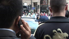 Man on cellphone, China Stock Footage