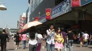 Busy Beijing Street Stock Footage