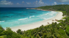 Nice view of beach in paradise Stock Footage