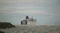 Destination Gotland passenger ferry leaving visby for Nynäshamn in sweden Stock Footage
