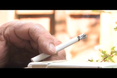 Smokers hand - stock footage