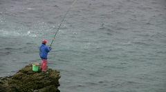 Fisherman - stock footage