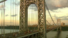 George Washington Bridge, New Jersey View Time Lapse Video - stock footage