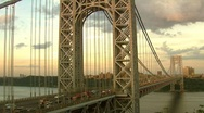 Stock Video Footage of George Washington Bridge, New Jersey View Time Lapse Video