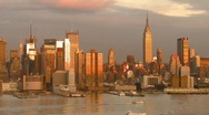 Stock Video Footage of New York City Hudson River View Skyline, Time Lapse Video
