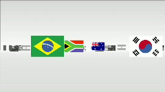 INTERNATIONAL FLAGS MULTI Stock Footage